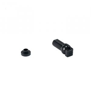 Kunststoffpfanne mit Sicherheitsverschluss, PA 6.6, M6 für 10mm Kugelkopf
